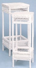 tall square wicker tables #4351