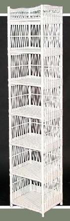wicker storage tower