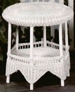 wicker table - round top wicker lamp table #4086