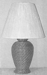 wicker furniture - wicker lamp