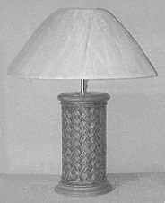 wicker furniture - rattan lamp