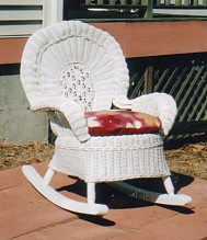 wicker childrens furniture - rocker #5070-9