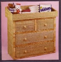 wicker changing table