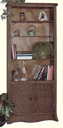 wicker furniture - bookcase #4790