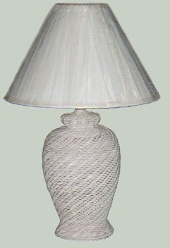 wicker lamp #4812