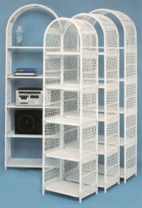 wicker shelf unit in four (4) sizes