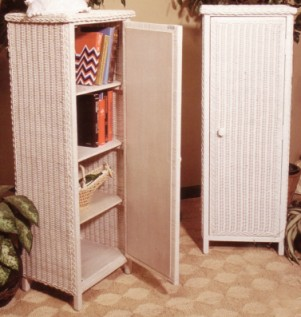 cabinet for wicker storage