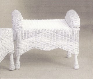 Wicker Ottoman Outdoor All Weather Ottoman Indoor