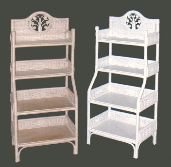 wicker shelves for bathroom