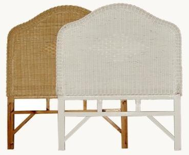 wicker headboards twin