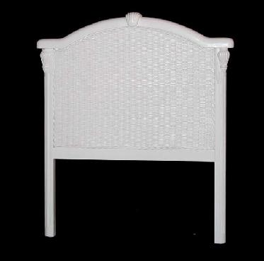 white wicker headboard twin