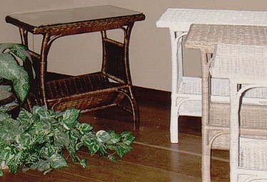 wicker magazine tables #4632