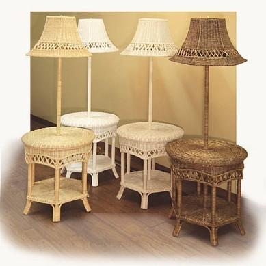 wicker lamps - natural, white, whitewash, brown