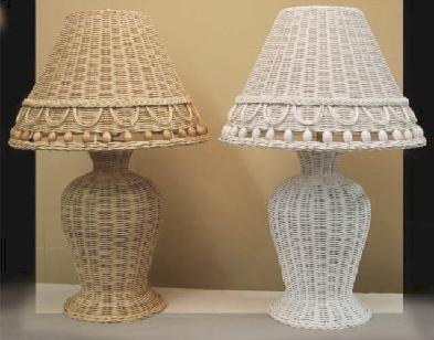 wicker table lamp #4314