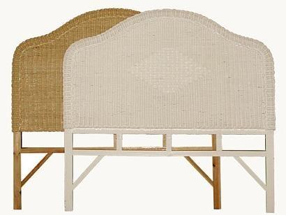 full size headboards wicker