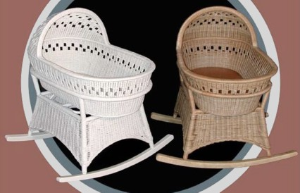 rocking wicker bassinet