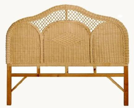woven headboard natural color wicker