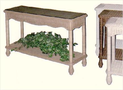 wicker furniture - sofa table, hall table, mail table #4950